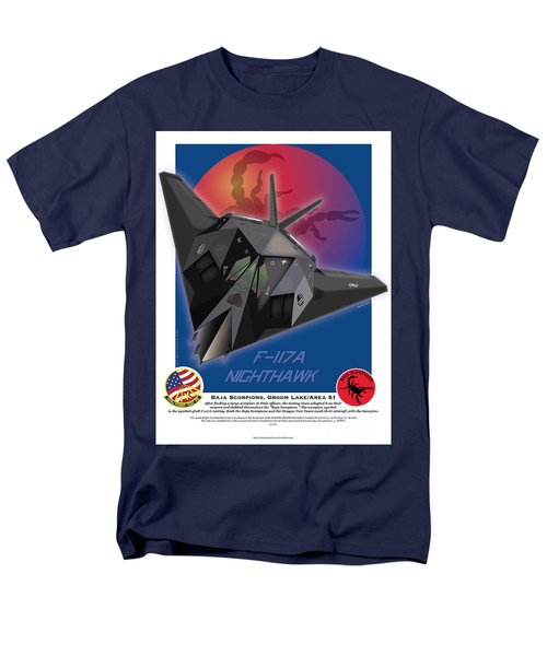 Men's T-Shirt  (Regular Fit) featuring the drawing F117a Nighthawk by Kenneth De Tore