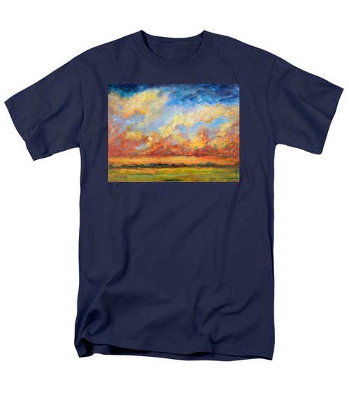 Men's T-Shirt  (Regular Fit) featuring the painting Feathered Sky by Mary Schiros