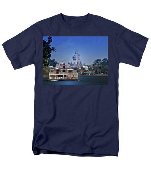 Ferry Boat Magic Kingdom Walt Disney World Mp Men's T-Shirt  (Regular Fit) by Thomas Woolworth
