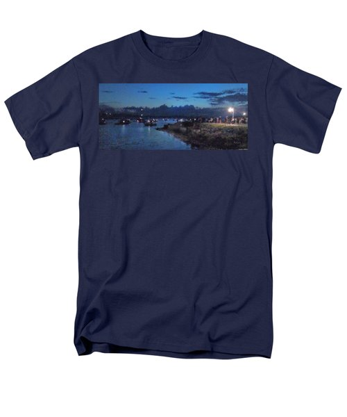 Men's T-Shirt  (Regular Fit) featuring the photograph Festival Night Land And Shore by Felipe Adan Lerma