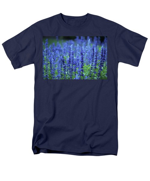 Fields Of Blue Men's T-Shirt  (Regular Fit) by Rowana Ray