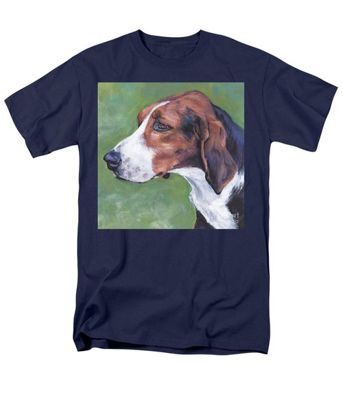 Men's T-Shirt  (Regular Fit) featuring the painting Finnish Hound by Lee Ann Shepard