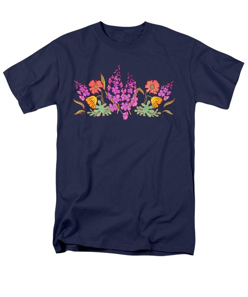 Fireweed And Poppies Cascade Men's T-Shirt  (Regular Fit) by Teresa Ascone