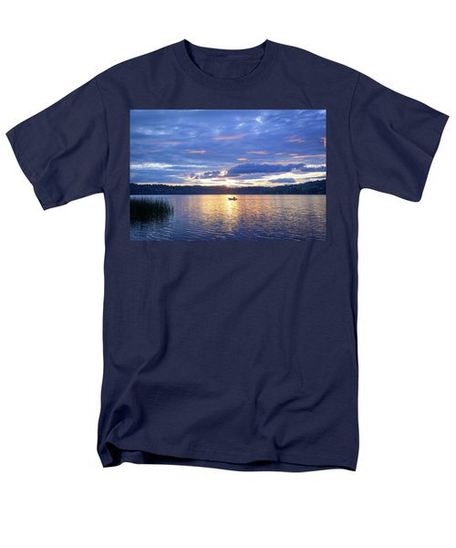 Fisherman Heading Home Men's T-Shirt  (Regular Fit) by Keith Boone