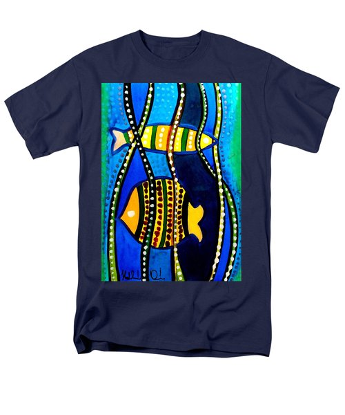 Fishes With Seaweed - Art By Dora Hathazi Mendes Men's T-Shirt  (Regular Fit) by Dora Hathazi Mendes