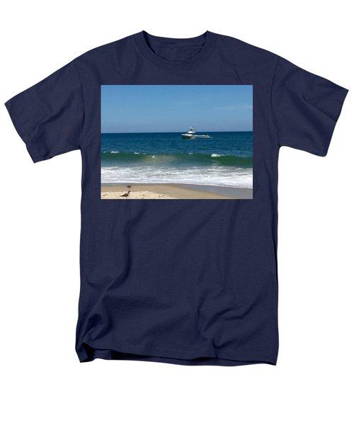 Fishing Boat Men's T-Shirt  (Regular Fit) by Dorothy Maier