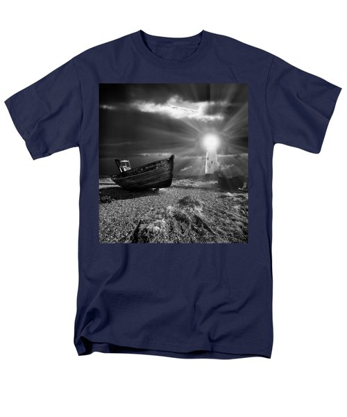 Men's T-Shirt  (Regular Fit) featuring the photograph Fishing Boat Graveyard 7 by Meirion Matthias