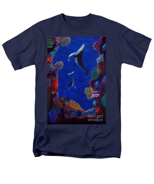 Floating Whales Men's T-Shirt  (Regular Fit) by Rebecca Parker