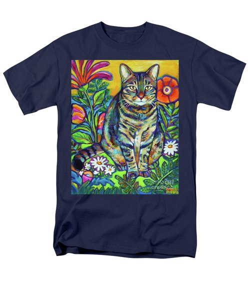 Men's T-Shirt  (Regular Fit) featuring the painting Flower Kitty by Robert Phelps