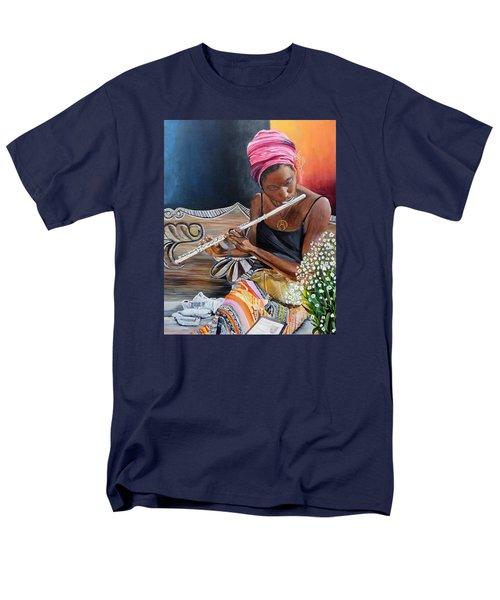 Flute Player Men's T-Shirt  (Regular Fit)