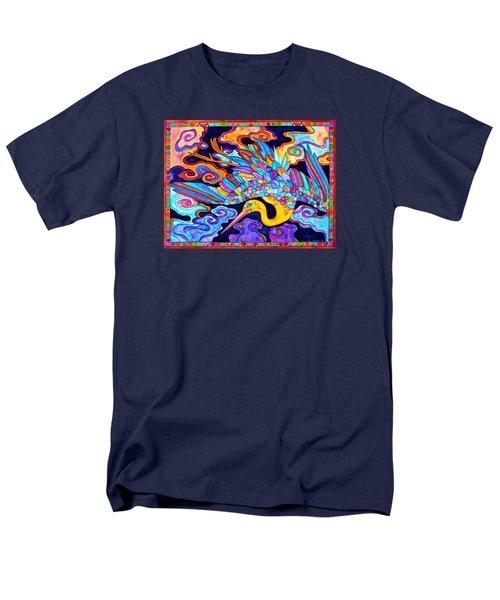 Flying Crane Men's T-Shirt  (Regular Fit) by Lori Miller