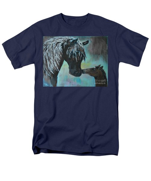 Men's T-Shirt  (Regular Fit) featuring the painting Foal Kiss by Leslie Allen