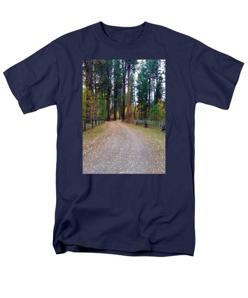 Follow The Road Less Traveled Men's T-Shirt  (Regular Fit) by Jennifer Lake