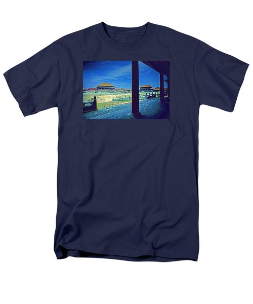 Men's T-Shirt  (Regular Fit) featuring the photograph Forbidden City Porch by Dennis Cox ChinaStock