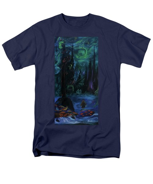 Men's T-Shirt  (Regular Fit) featuring the painting Forbidden Forest by Christophe Ennis