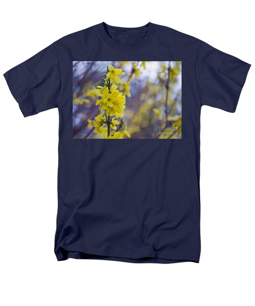 Men's T-Shirt  (Regular Fit) featuring the photograph Forsythia by Rima Biswas