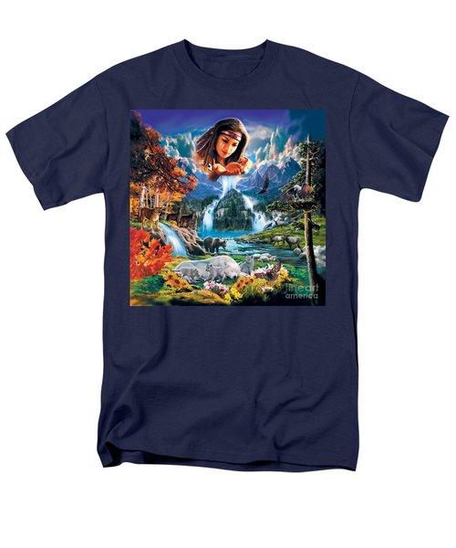 Four Seasons Men's T-Shirt  (Regular Fit) by Robin Koni
