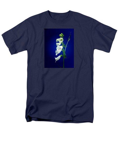 Foxgloves On  Blue Men's T-Shirt  (Regular Fit) by Mike Breau