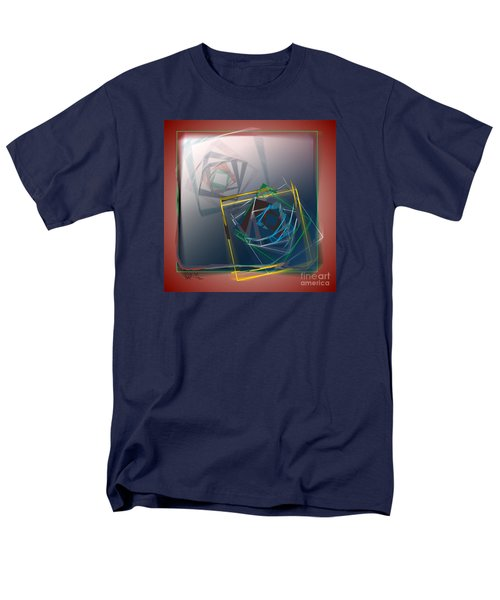 Men's T-Shirt  (Regular Fit) featuring the digital art Fragments Of Movement by Leo Symon