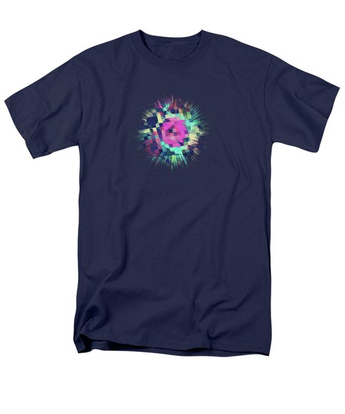 Fruity Rose   Fancy Colorful Abstraction Pattern Design  Green Pink Blue  Men's T-Shirt  (Regular Fit) by Philipp Rietz