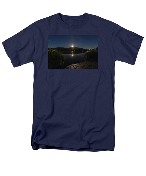 Men's T-Shirt  (Regular Fit) featuring the photograph Full Moon Retreat Meadows by Tom Singleton