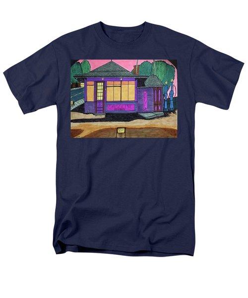 Gasoline Alley Mobil Oil. Historic Menominee Art. Men's T-Shirt  (Regular Fit) by Jonathon Hansen