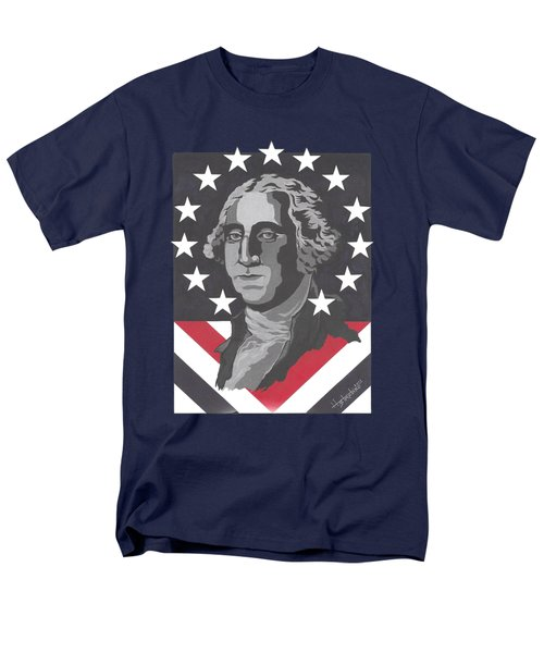 George Washington T-shirt Men's T-Shirt  (Regular Fit) by Herb Strobino