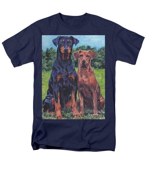 Men's T-Shirt  (Regular Fit) featuring the painting German Pinschers by Lee Ann Shepard