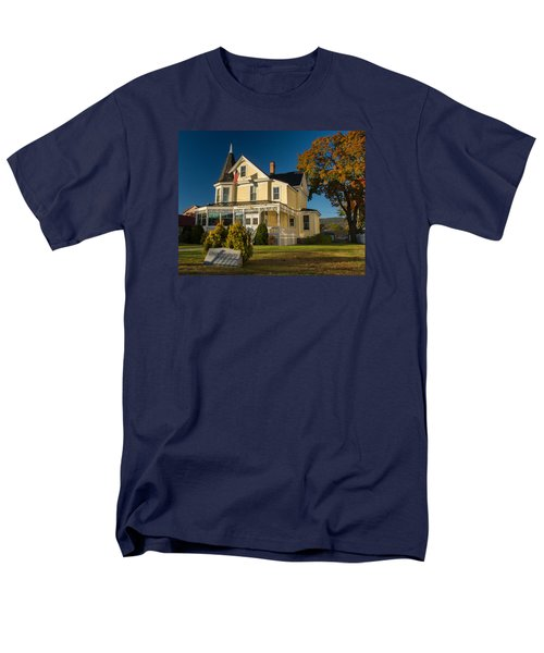 Men's T-Shirt  (Regular Fit) featuring the photograph Gibson Woodbury House North Conway by Nancy De Flon