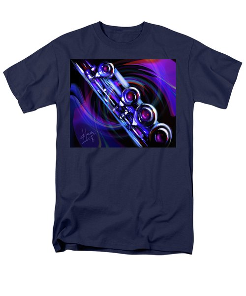Men's T-Shirt  (Regular Fit) featuring the painting Glassical Flute by DC Langer