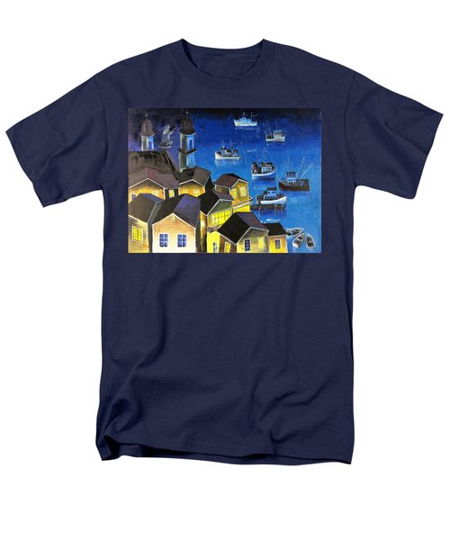 Glouchester Harbor Men's T-Shirt  (Regular Fit) by Mikhail Zarovny