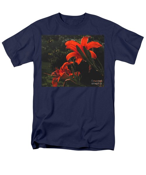 Men's T-Shirt  (Regular Fit) featuring the photograph Glowing Day Lilies by Donna Brown