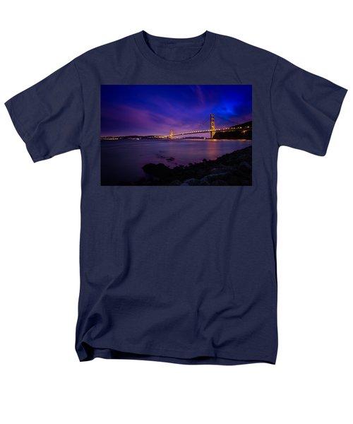 Golden Gate Bridge At Night Men's T-Shirt  (Regular Fit) by Ian Good