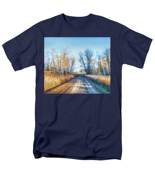 Men's T-Shirt  (Regular Fit) featuring the photograph Goose Lake Road by Theresa Tahara