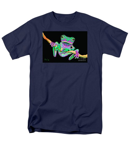 Green And Pink Frog Men's T-Shirt  (Regular Fit) by Nick Gustafson