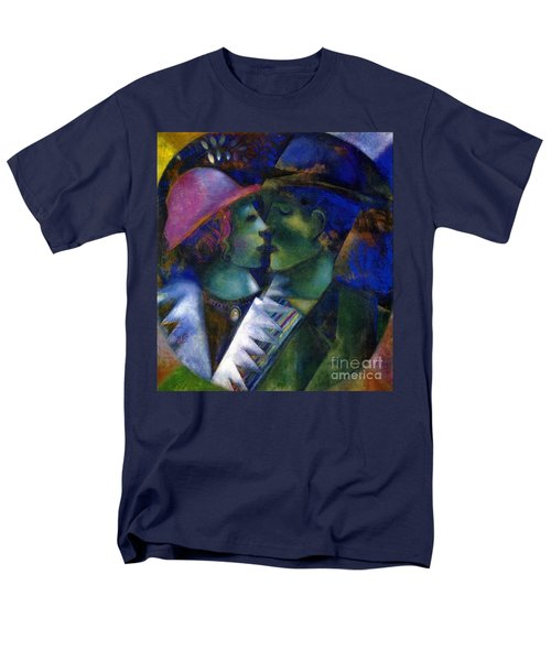 Green Lovers Men's T-Shirt  (Regular Fit) by Marc Chagall