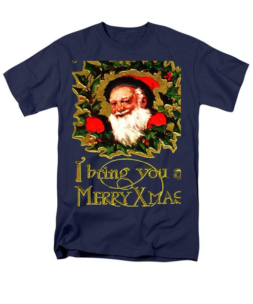 Men's T-Shirt  (Regular Fit) featuring the digital art Greetings From Santa by Asok Mukhopadhyay