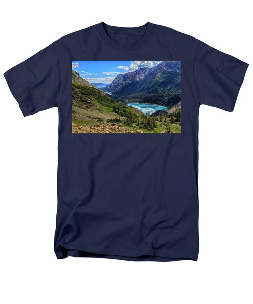 Grinell Hike In Glacier National Park Men's T-Shirt  (Regular Fit) by Andres Leon