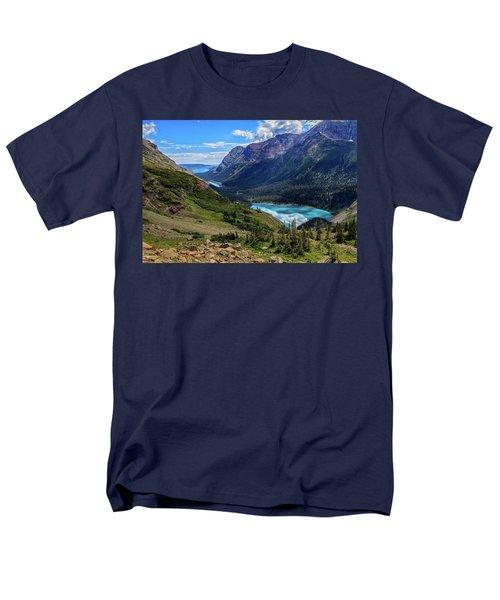Grinell Hike In Glacier National Park Men's T-Shirt  (Regular Fit)