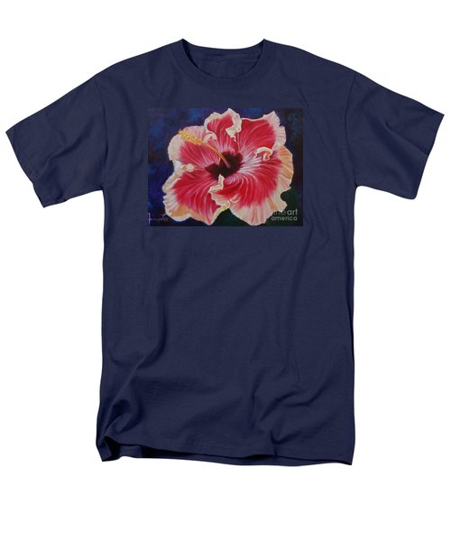 Men's T-Shirt  (Regular Fit) featuring the painting Hibiscus by Jenny Lee