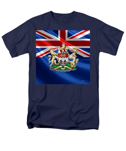 Hong Kong - 1959-1997 Coat Of Arms  Men's T-Shirt  (Regular Fit) by Serge Averbukh