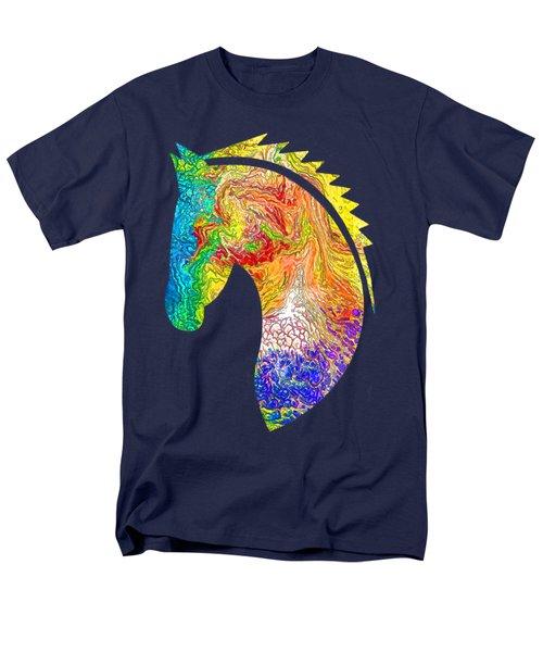 Horse Colorful Silhouette Men's T-Shirt  (Regular Fit)