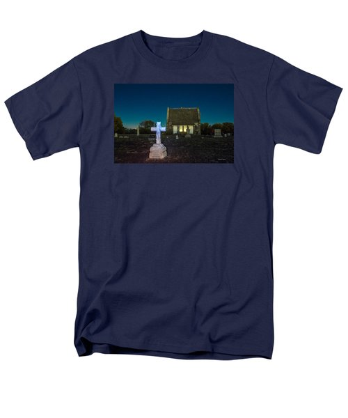 Hughes Children At Riverside Cemetery Men's T-Shirt  (Regular Fit) by Stephen  Johnson