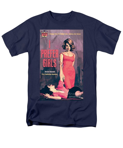 Men's T-Shirt  (Regular Fit) featuring the painting I Prefer Girls by Robert Maguire