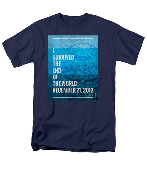 Men's T-Shirt  (Regular Fit) featuring the digital art I Survived The End Of The World by Phil Perkins