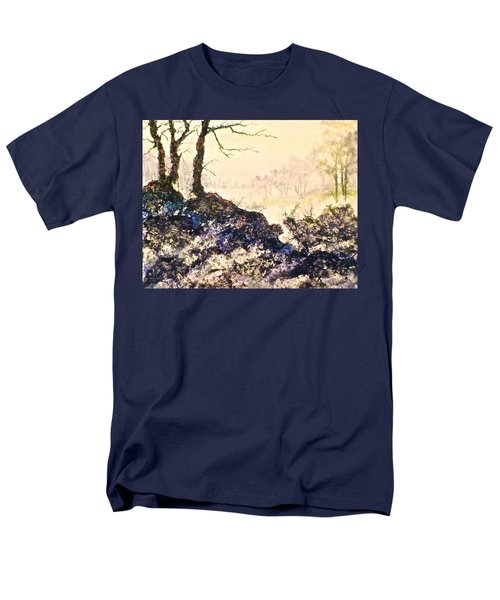 Men's T-Shirt  (Regular Fit) featuring the painting In The Distance by Carolyn Rosenberger