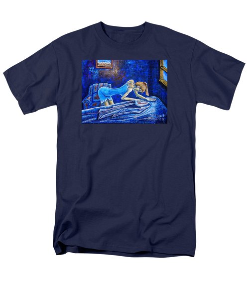Men's T-Shirt  (Regular Fit) featuring the painting Ironing by Viktor Lazarev