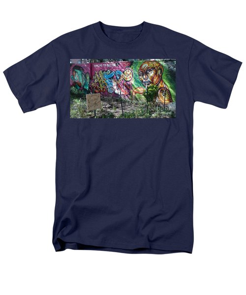 Men's T-Shirt  (Regular Fit) featuring the photograph Isham Park Graffiti  by Cole Thompson