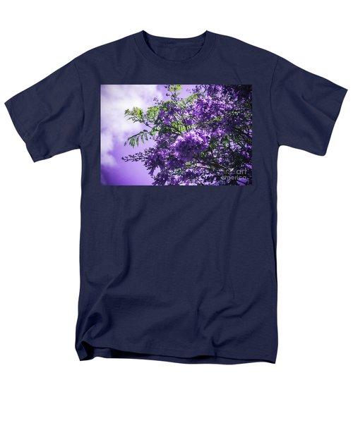 Men's T-Shirt  (Regular Fit) featuring the photograph Jacaranda Mimosifolia Kula Maui Hawaii by Sharon Mau