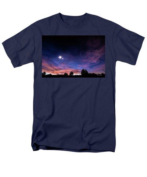 Men's T-Shirt  (Regular Fit) featuring the photograph January 31, 2016 Sunset by Karen Slagle